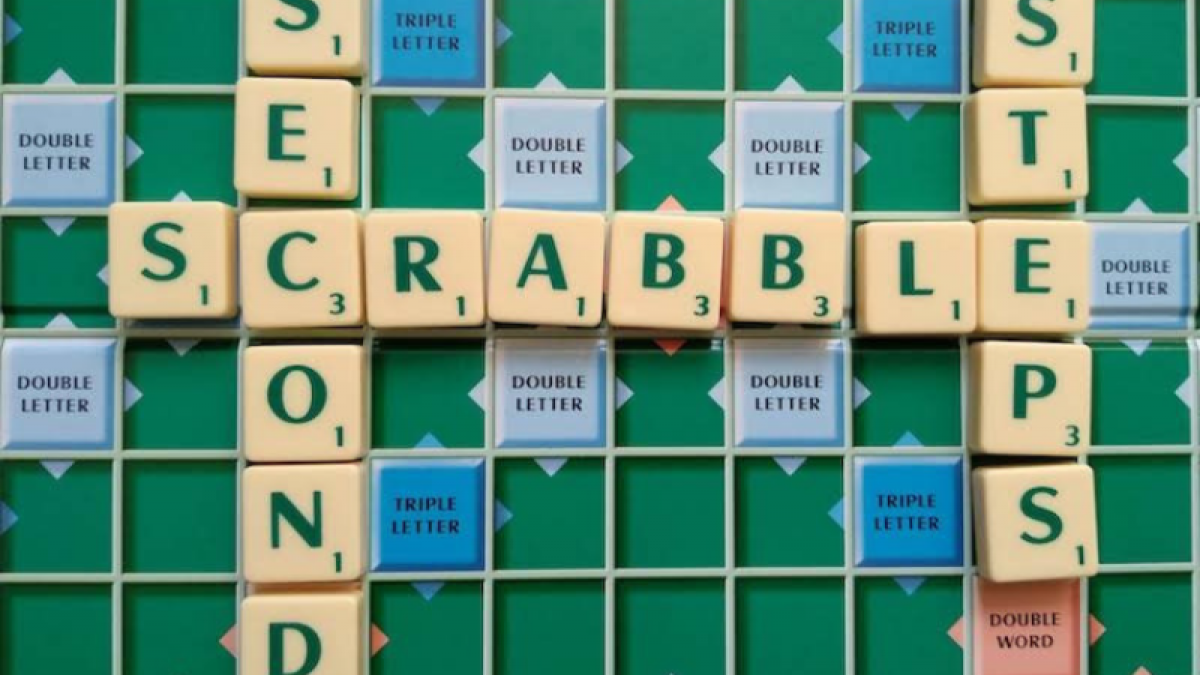 Scrabble letters on scrabble board