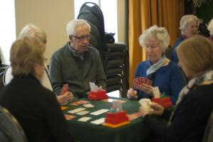 group of people playing bridge at Clark Foley