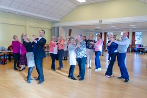 People enjoying the Saturday dance class