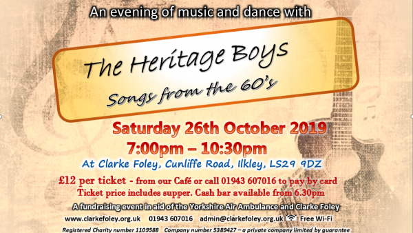 The Heritage Boys, songs from the 60's