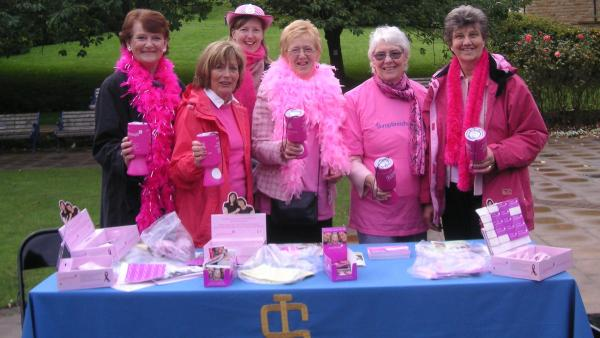 Ilkley Soroptimists collecting on The Grove for Breast Cancer Research